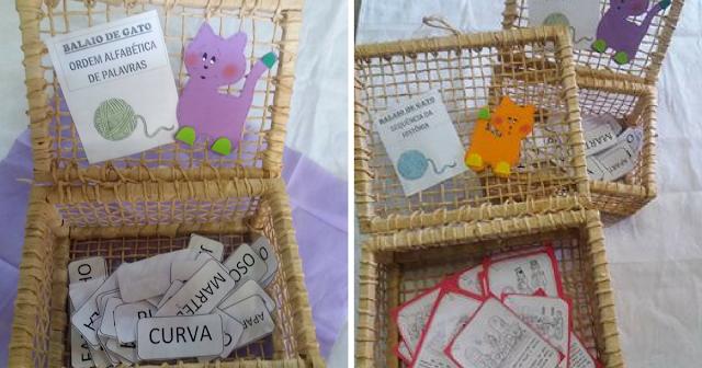 Atividade balaio de gato para alunos leitores de palavras e textos