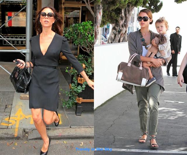 Victoria Beckham bolso Amazona y, Jessica Alba bolso Amazona