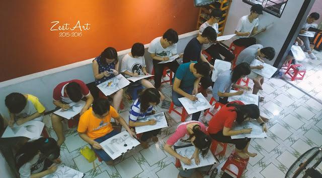 trung tâm dạy vẽ ở tphcm zest art quận 10