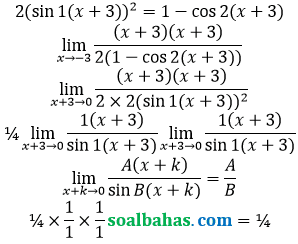 bahas limit x kuadrat per cos