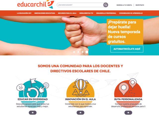 Renovada plataforma de educarchile para a escuelas y liceos