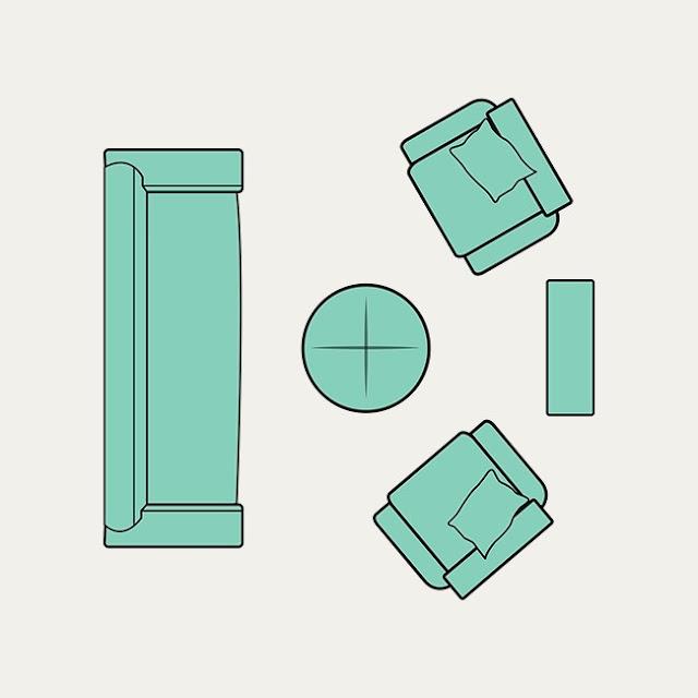 cách bố trí bàn ghế phù hợp với phòng khách
