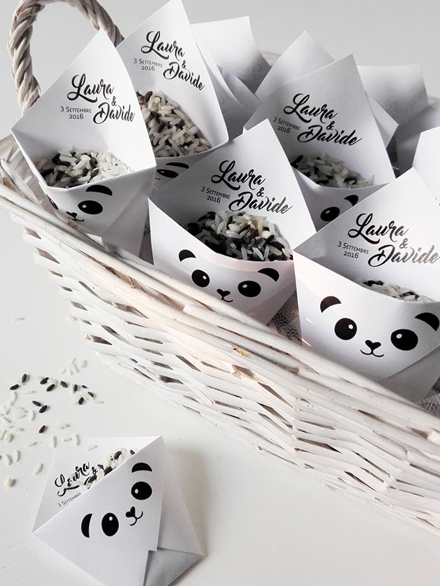 Matrimonio In Bianco E Nero : Think un tenero panda per il matrimonio in bianco e nero