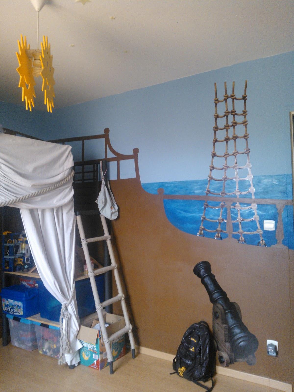 Marcelyn : Décoration chambre pirate pour mon fils