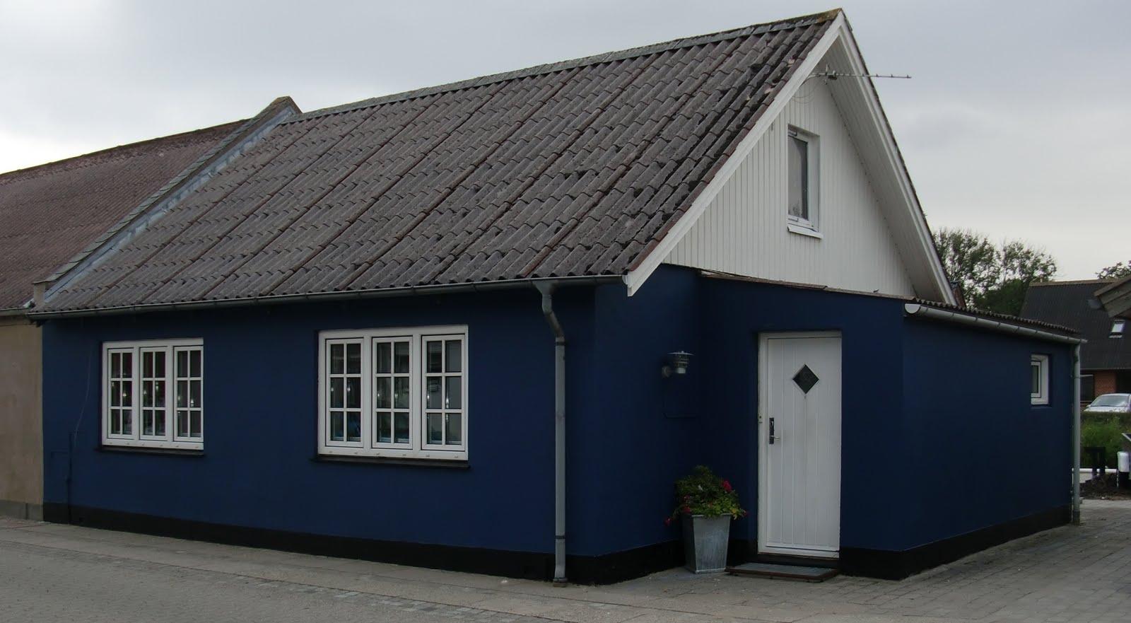 hvid malede huse