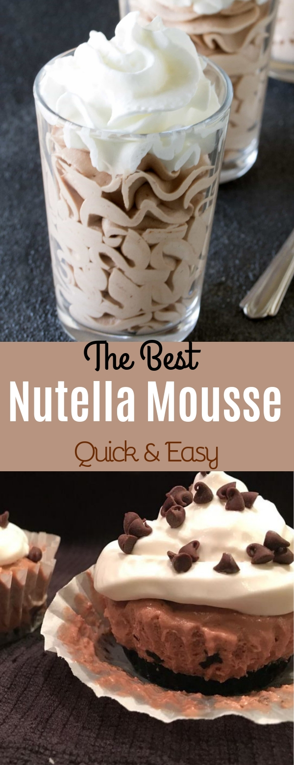 The Best Nutella Mousse (Quick & Easy)