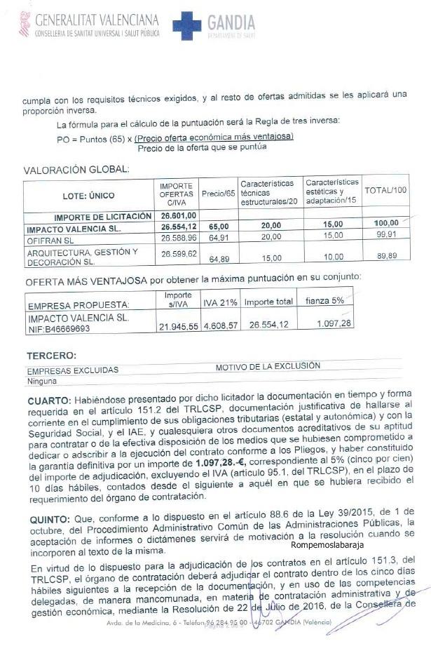 Adjudicado el suministro de mobiliario medico de los - Suministros navarro ontinyent ...