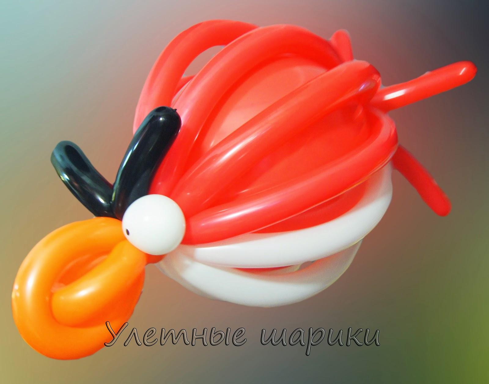 Angry birds из воздушных шариков
