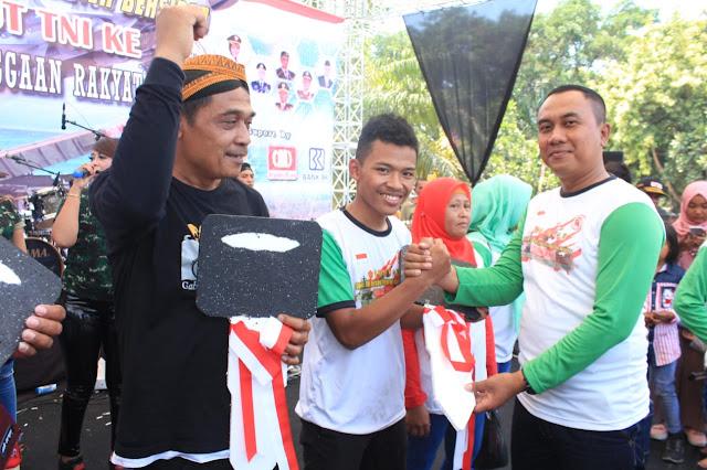 Gowes TNI Bersama Masyarakat Klaten Bersinar