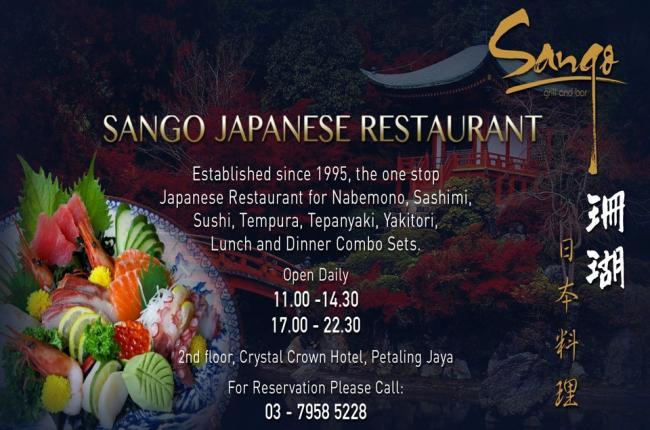 Sango Japanese Restaurant Crystal Crown Hotel Pj