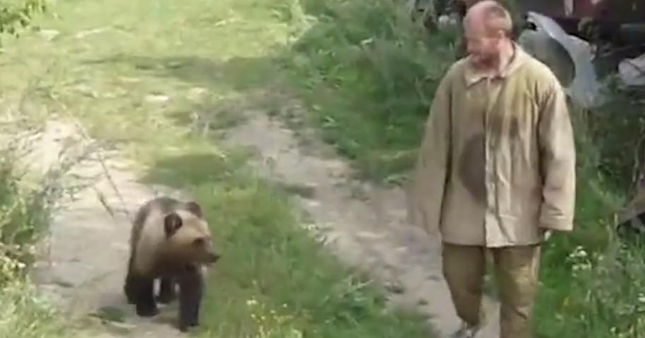 Αρκούδα έφαγε ζωντανό τον κυνηγό που την κρατούσε για χρόνια αιχμάλωτη στον κήπο του