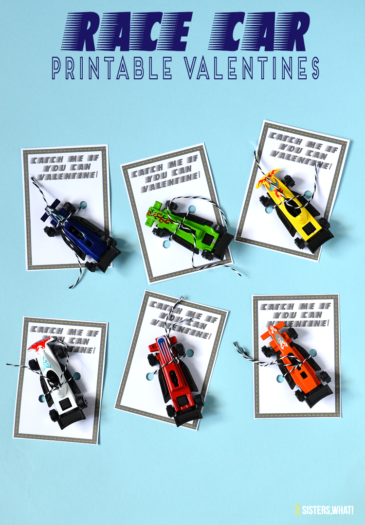 race car valentine printable for kids or adults catch me if you can printable