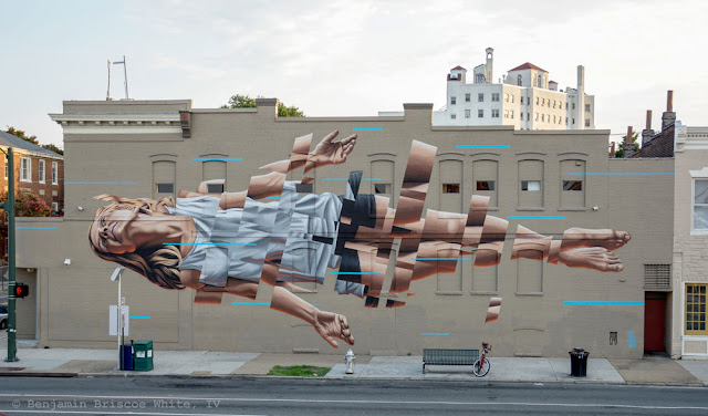 James Bullough spent the last few days in Richmond where he was invited by Art Whino to paint for the Richmond Mural Project.