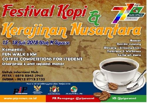 acara bulan juli 2018 Festival Kopi & Kerajinan Nusantara
