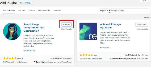Cara mempercepat website dengan Optimasi Gambar Menggunakan Plugin WP Smush IT