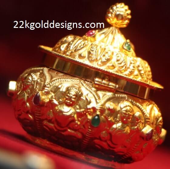 Lakshmi Devi Finish Gold Kumkum Bharani