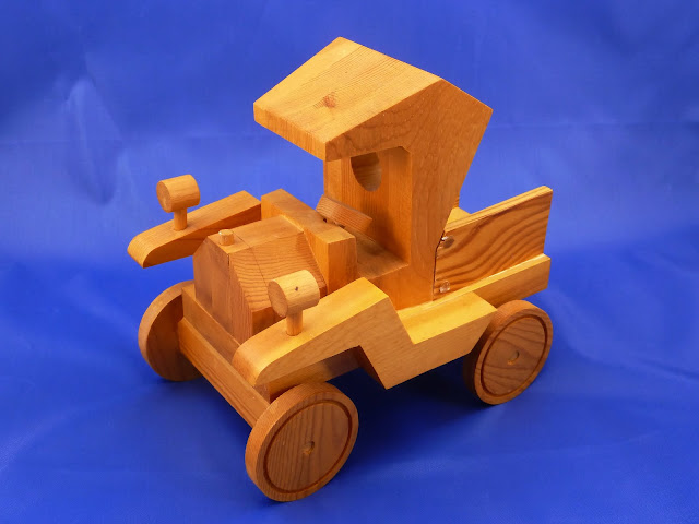 Left Front View - Wooden Toy Truck - Norm Marshall Model T Pickup Truck