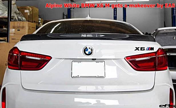 Alpine White BMW X6 M gets a makeover by EAS