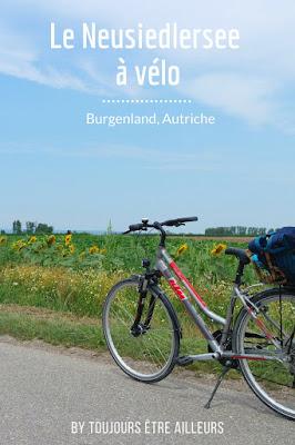Balade à vélo autour du Neusiedlersee, grand lac au sud de Vienne, du côté de Podersdorf (Burgenland, Autriche)