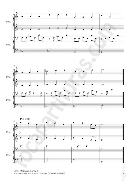 3 Song of Healing Partitura de Piano a 4 Manos Banda Sonora La Leyenda de Celda Nivel Inicial Pianistas Lengend of Zelda Easy Piano Sheet Music Four Hands Teacher - Student beginners