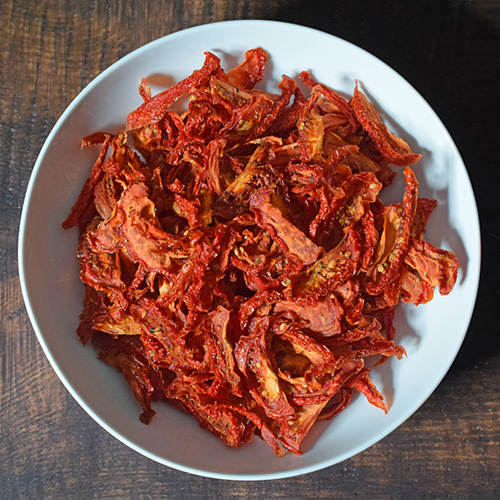Green chile seasoned dried tomatoes.