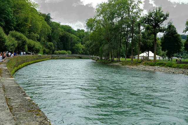 River Gave de Pau. Lourdes. France