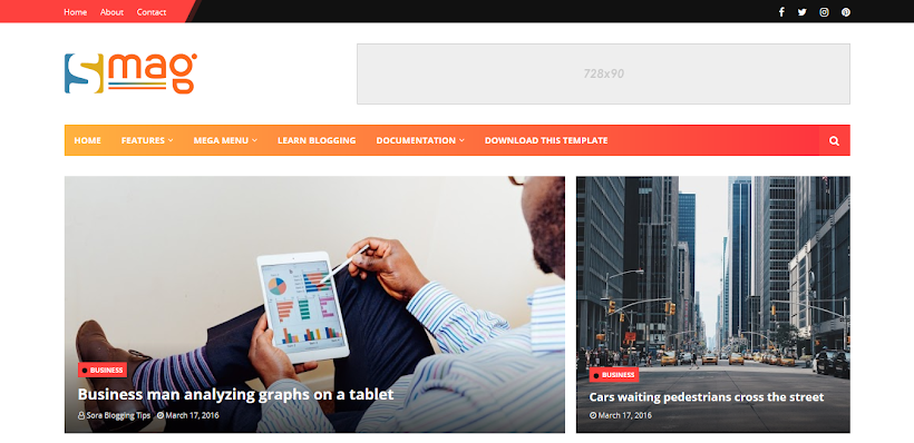 Smag Free Blogger Template