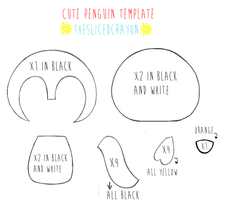 TheSlicedCrayons Crafty Blog TEMPLATE FOR CUTE PENGUIN PLUSH D
