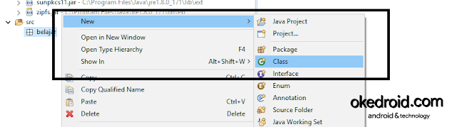 New  > Class Eclipse IDE