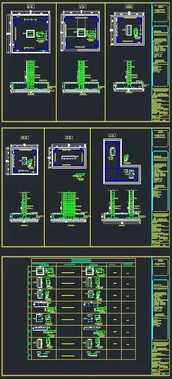 Structural CAD drawings (dwg) - drawings of a full construction