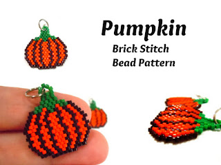 Click here for more info. about the Brick Stitch Pumpkin Pattern