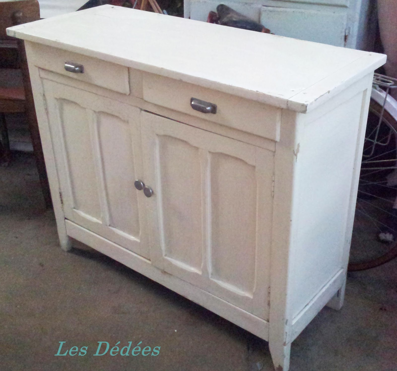 les dedees vintage recup creations petit buffet parisien a l 39 horizontal by anne. Black Bedroom Furniture Sets. Home Design Ideas