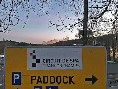 Circuit De Spa Francorchamps Paddock Entry Sign