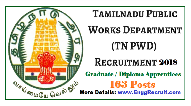 PWD Tamil Nadu Recruitment 2018