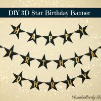 DIY Star Birthday Banner