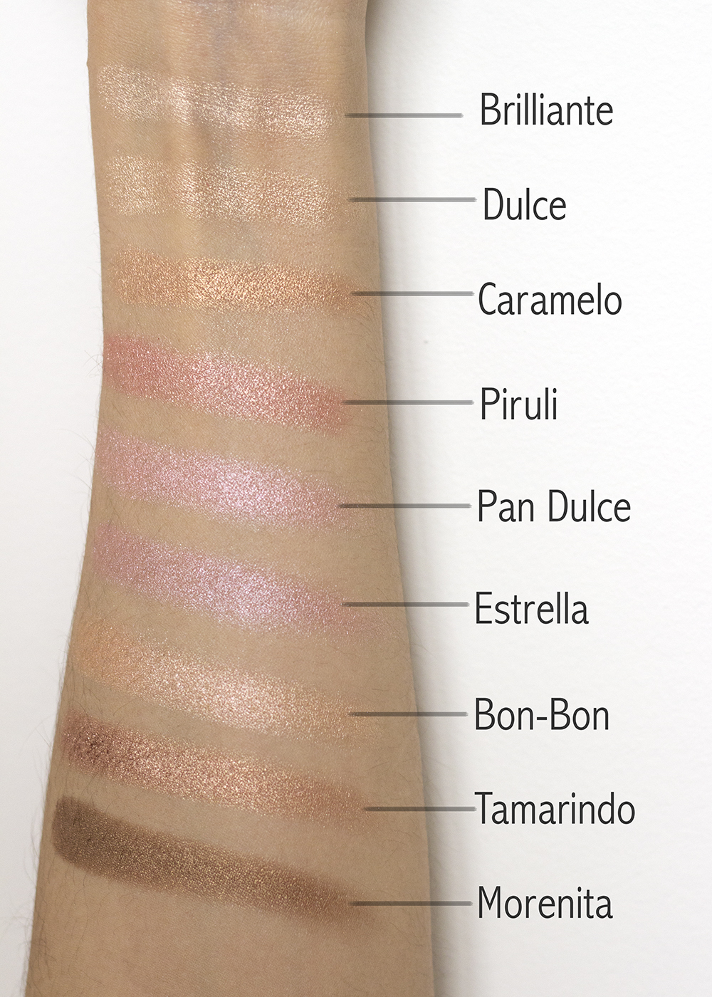 Pixi Beauty Cafe Con Dulce Palette Swatches