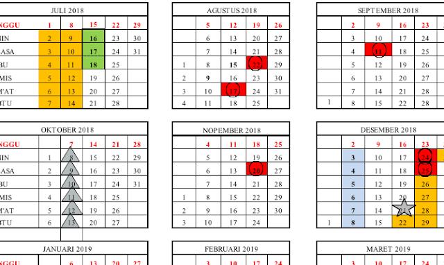 untuk Provinsi Banten akhir telah diterbitkan oleh Dinas Pendidikan dan Kebudayaan Provin Kalender Pendidikan 2018/2019 : Banten (Excel)