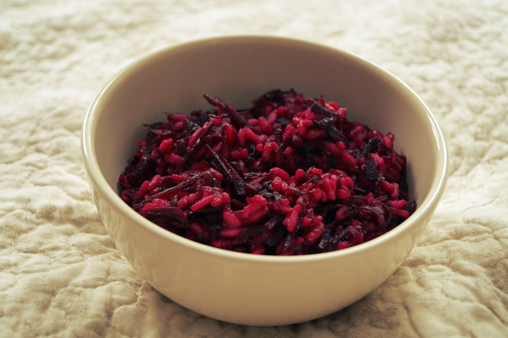 Risotto mit roter Beete