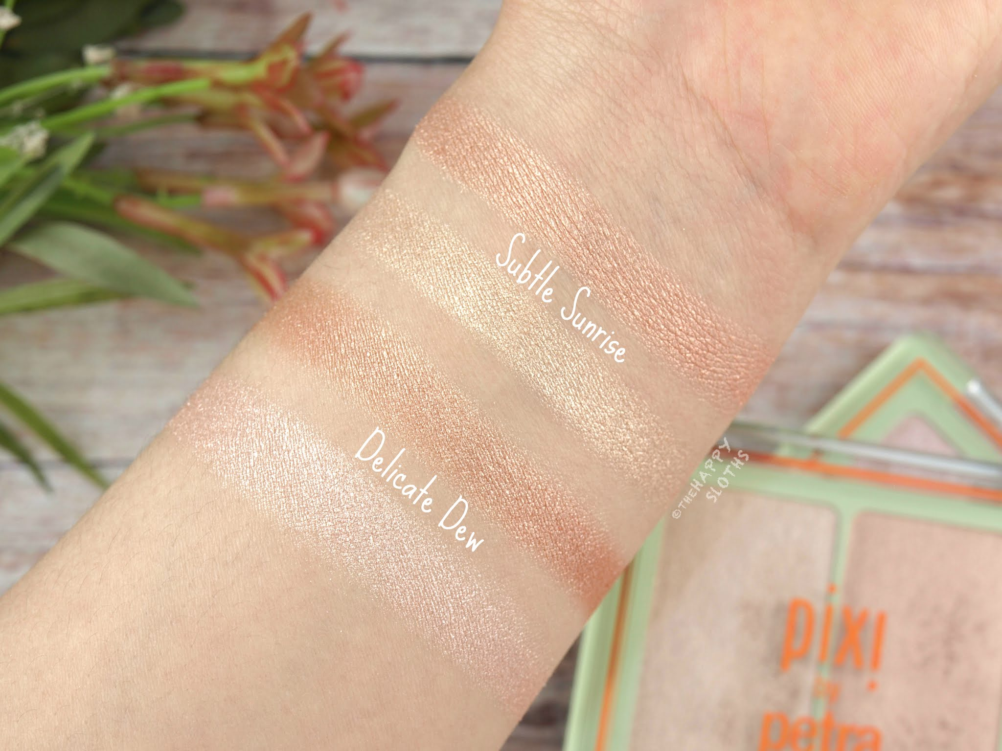 "Pixi | Glow-y Gossamer Duo in ""Delicate Dew"" & ""Subtle Sunrise"": Review and Swatches"