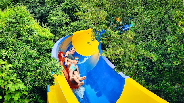 Visit Escape Waterplay to experience the world's longest slide