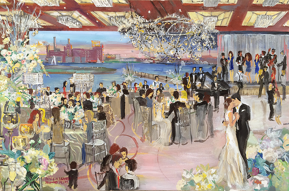 Four Seasons Baltimore Hotel Wedding Reception December 19 2017 Painted By Patricia Bennett