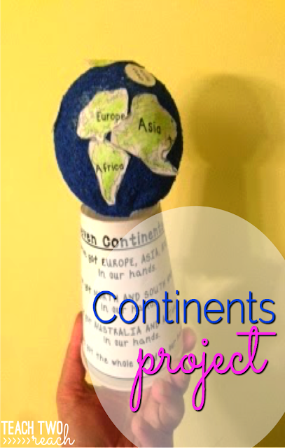 Learn about the continents with this 3D Globe Project FREEBIE