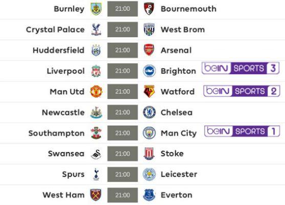 Jadwal Liga Inggris Pekan 38