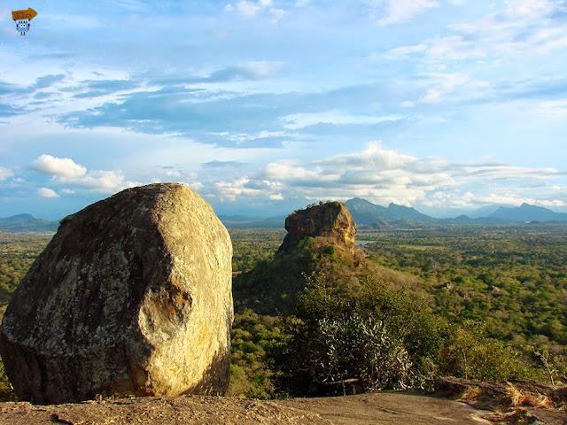 Vistas de Sigiriya desde Pidurangala