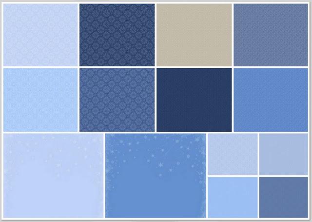 Fondos del Clipart Navidad en Tonos Azules.