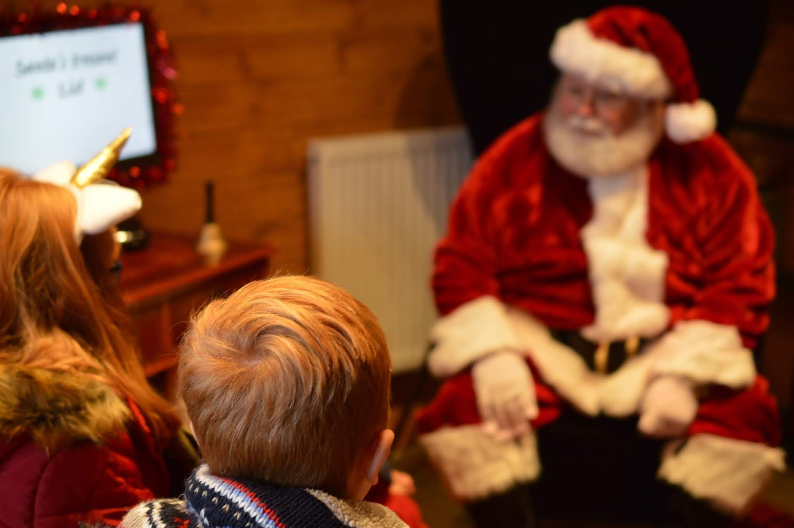 Santa on the Rooftop at Fenwick Newcastle | A Review  - meeting santa claus