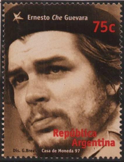 Resultado de imagen de sello de correos con el che Guevara