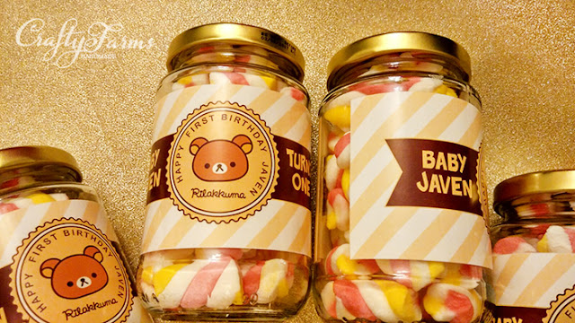 Marshmallow Jar Favours for Baby First Birthday Party