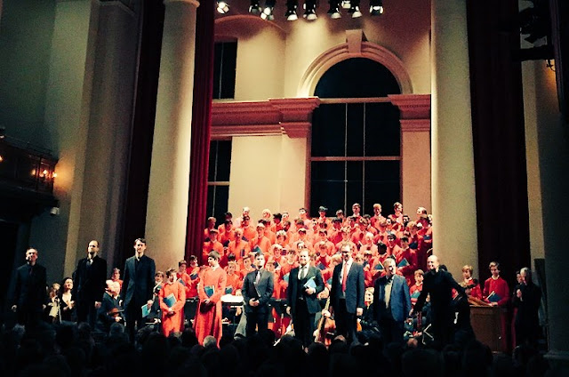 Eton College Chapel Choir, Winchester College Chapel Choir, Academy of Ancient Music, Stephen Layton, James Gilchrist, James Birchall, Ashley Riches,  Clint van der Linde, Andrew Staples, Gabriel Ali and Angus Benton at St John's Smith Square