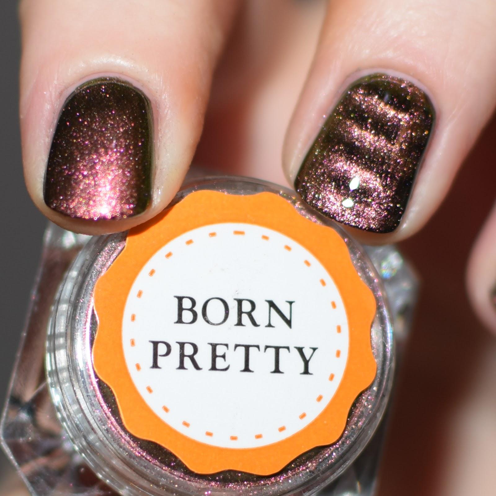 Born Pretty Chameleon Magnetic Nail Powder // Swatch & Review + Demo ...